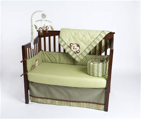 Green And Brown Monkey Crib Bedding by Baby Shower Gift 8 Kenneth Brown Nursery Bedding