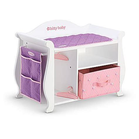 American Girl Bitty Baby Changing Table Storage 2015 For Doll Changing Table