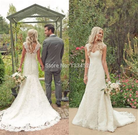 anna cbell inspired beach wedding dresses sleeves 2015 vintage country style vintage lace beach wedding dresses 2015 cap