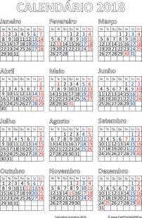 Calendario Lunar 2018 Calend 225 2018 Impress 227 O Brasil Pdf Para Impress 227 O Livre