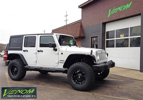 white jeep jku white jku venom motorsports grand rapids mi us 160240