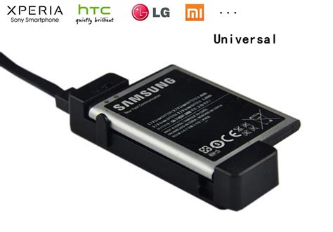 universal cell phone battery charger for wireless and universal spare mini usb smart li ion battery charger dock
