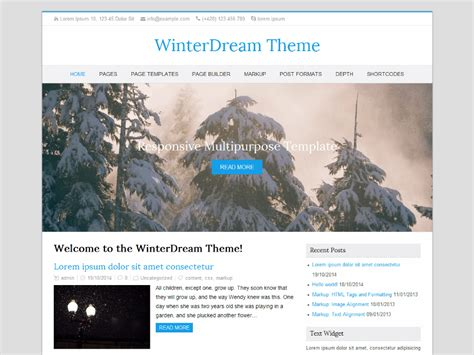 themes for the story winter dreams theme directory free wordpress themes