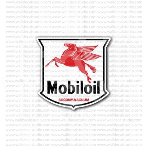 Sticker Logo Mobil from 4 50 buy mobiloil mobil motor racing sticker at print plus in stickers automotive at