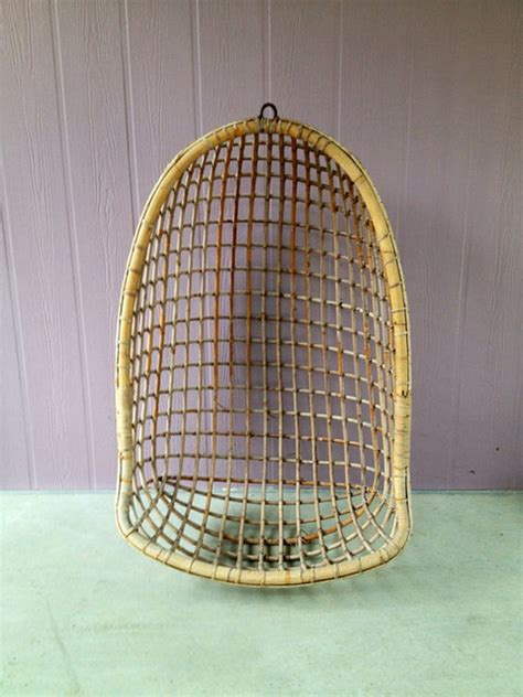 vintage swing chair vintage rattan swing chair by evelyn gray home eclectic