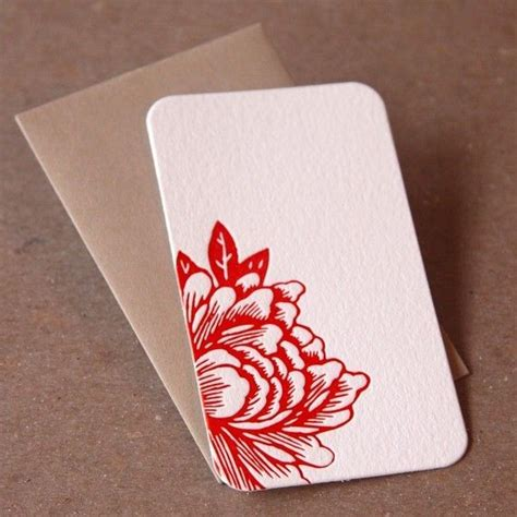 Souvenir Mini Notes Fancy Personalized Crayonpenggarispenghapus impression blossoming flower letterpress mini notes gift notes stationery 20 tiny flat cards
