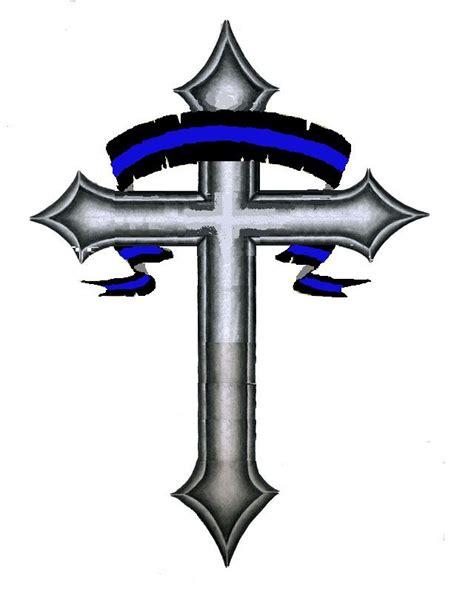 thin cross tattoo thin blue line my style