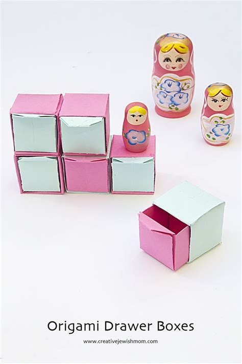 How To Make A Drawer Box Out Of Paper - origami pull out drawers make sweet gift boxes creative