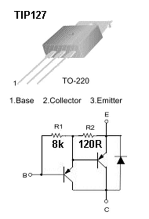 darlington transistor in ltspice tip127 datasheet free