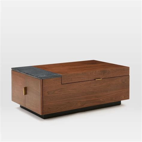table storage hyde hidden storage secret mini bar coffee table so