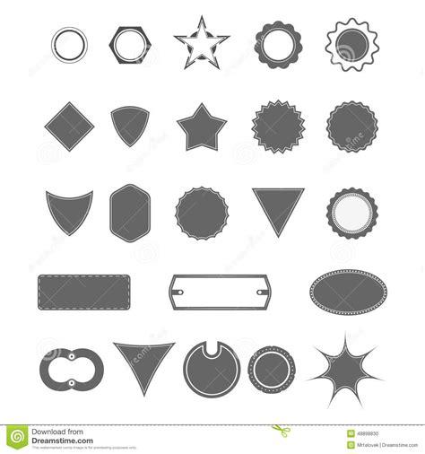 free logo templates illustrator vintage badge shapes stock illustration image 48898830