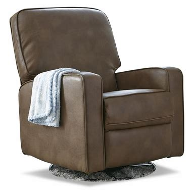 baby leather recliner creations baby sutton leather like swivel glider recliner