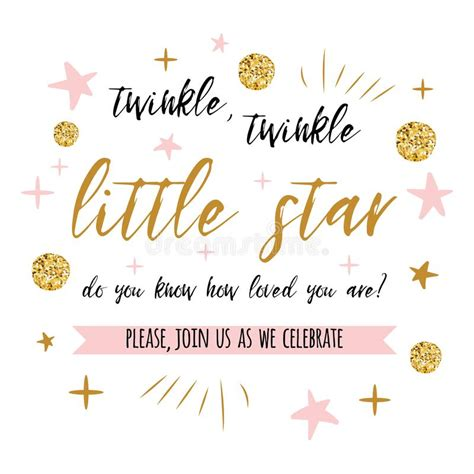 twinkle twinkle card template twinkle twinkle text with gold polka dot and