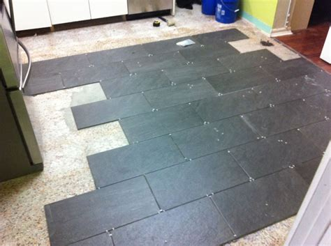 Tiles Lowes by I Re Tiled My Kitchen Dadand Com Dadand Com