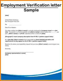 Employment Verification Letter Exle Letter Of Employment Verification Best Business Template