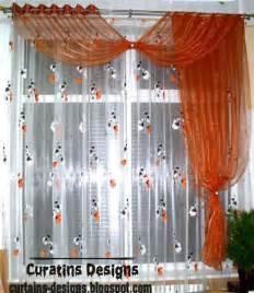 Contemporary Orange Curtains Designs Patterned Window Treatment Orange Curtain Design