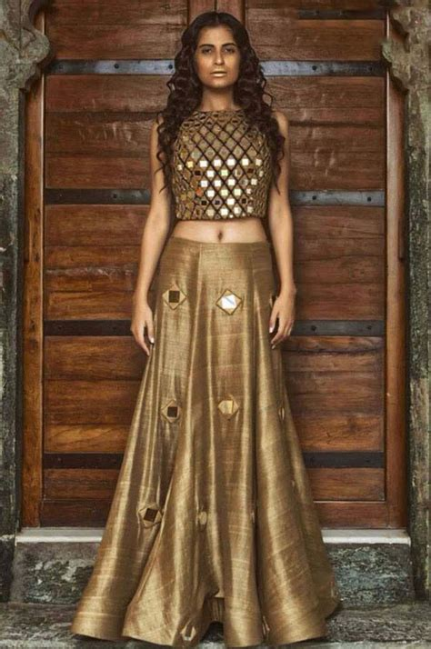 stylish gold pattern dress top 21 lehenga design for wedding events 2016 stylo planet