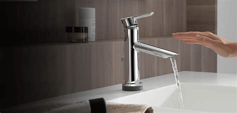 touch bathroom faucet touchless bathroom faucet with delta 174 touch o xt 174 delta