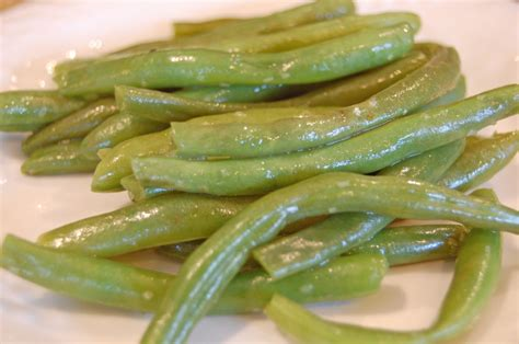 cooking fresh green beans eat at home