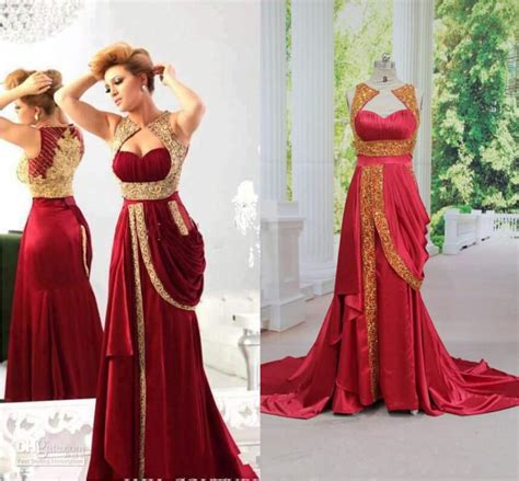 celebrity style dresses india 2014 hot red gold appliques evening dresses arabic india