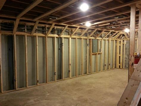angled soffit framing basement finish design