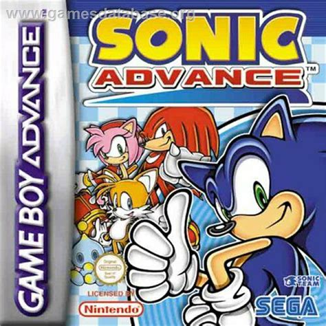 Cover Scoopy F1 Crem sonic advance nintendo boy advance database