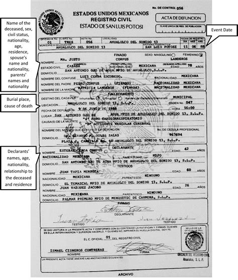 mexican birth certificate template 28 images best