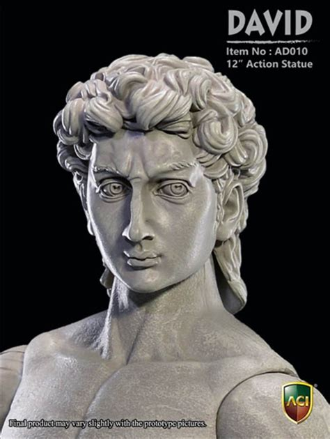 michelangelo s david sculpture action figure gadgetsin david marble color aci 1 6 articulated statue