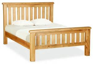 wooden size bed frame varnished oak wood bed frame using white