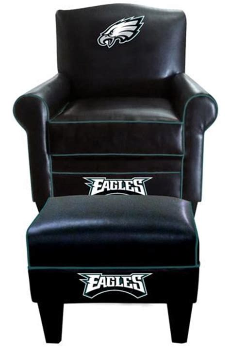 philadelphia eagles chair philadelphia eagles leather time chair and ottoman