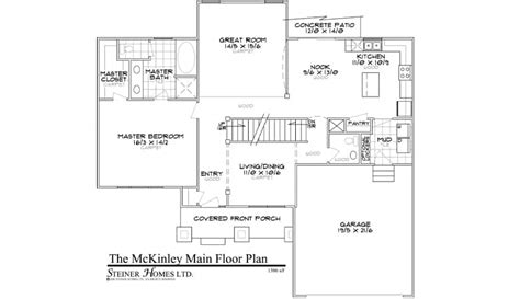 master on main floor plans the mckinley main floor master steiner homes ltd