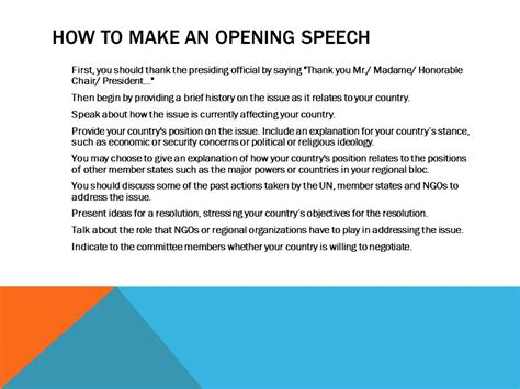 Sle Of Opening Speech For Presentation opening speech sle for presentation parliamentary