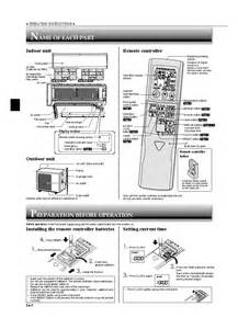 Mitsubishi User Manual Mitsubishi Msz Ge25va User Manual