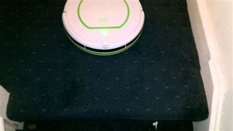 easy home aldi robot vacuum cleaner negotiating stairs
