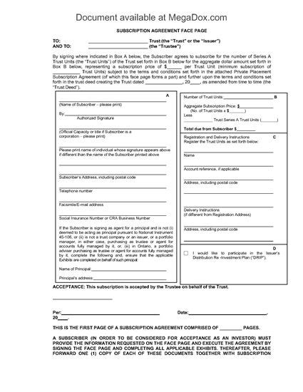 Investor Forms Package For Reit Alberta Legal Forms And Business Templates Megadox Com Investor Packet Template