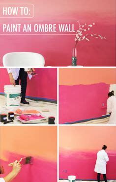 how to paint a sunset on a bedroom wall ombre paint ideas and how to paint on pinterest