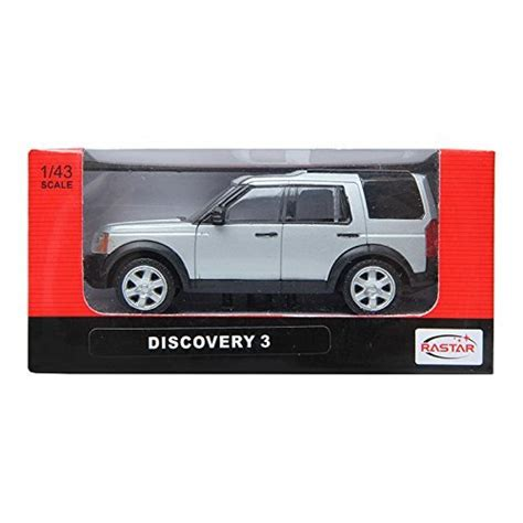 Rastar Land Rover Discovery 3 Silver 1 43 Scale Diecast Model Car 1 discovery at uk shop