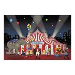 3pc set carnival circus big top decoration backdrop