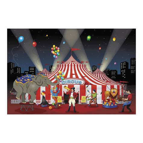 Big Theme 3pc set carnival circus big top decoration backdrop banner photo prop ebay