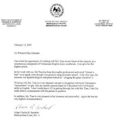 Reference Letter To Judge Exles Letter Of Recommendation To Judge Letter Of Recommendation
