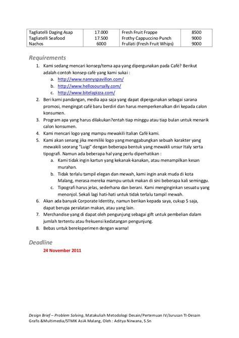 design brief exercises design brief problem solving exercise