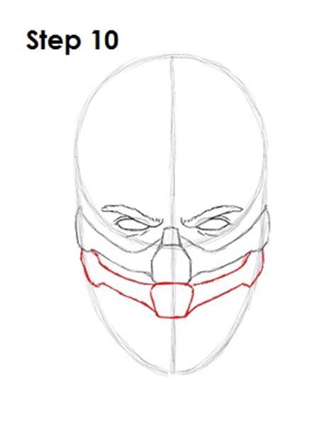 how to draw scorpion from mortal kombat x easy things to mortal kombat scorpion face drawings www pixshark com