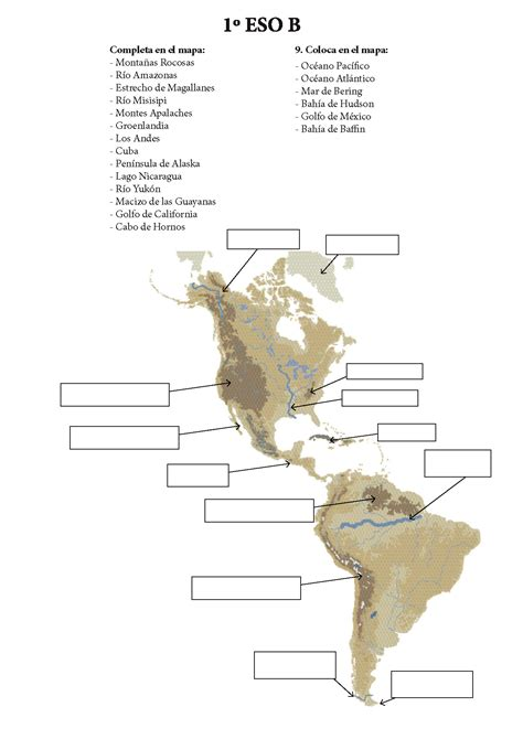 accidentes geograficos de america mapa de accidentes geograficos de america