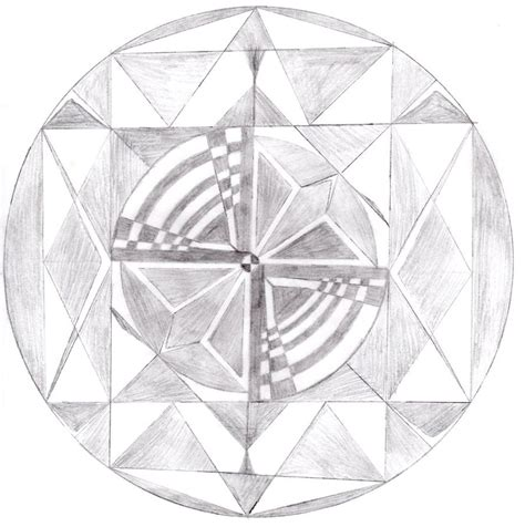 radial pattern drawing non representational drawing radial perspective design