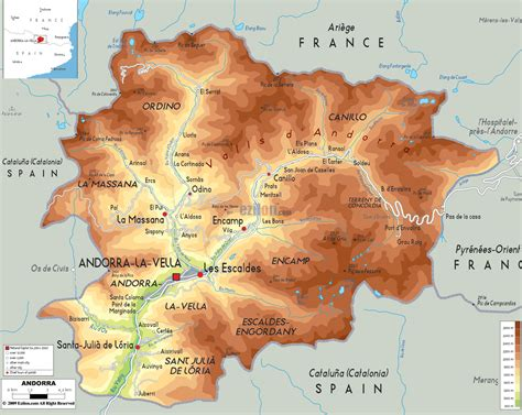 andorra on europe map maps of andorra detailed map of andorra in