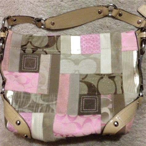 Pink Patchwork Coach Purse - 75 coach handbags coach pink signature patchwork