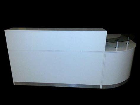 Quality Reception Desks Ref 0404 Quality Reception Desk In White High Gloss