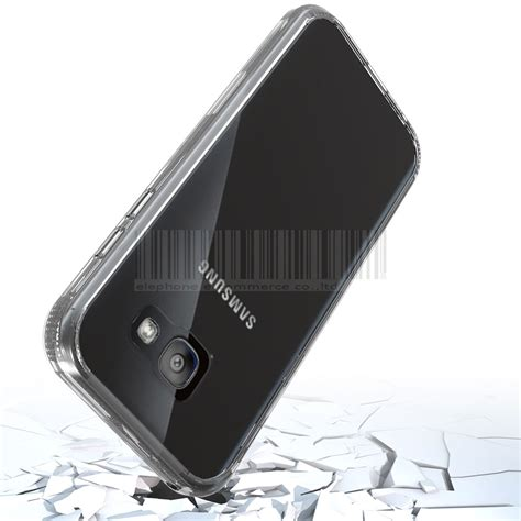 Bumper Armor Slim Stand Cover Samsung Galaxy A5 2017 slim hybrid tpu clear shockproof bumper cover for