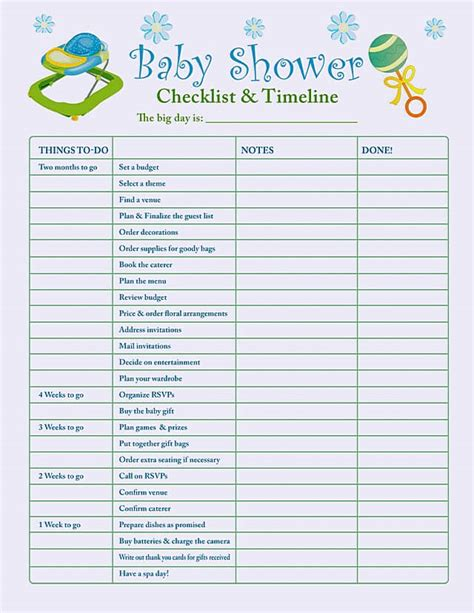 Things Needed For A Baby Shower by Daycare Budget Template Search Results Calendar 2015