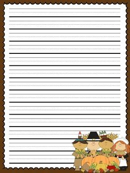 thanksgiving writing paper primary lined thanksgiving writing paper by allison chunco